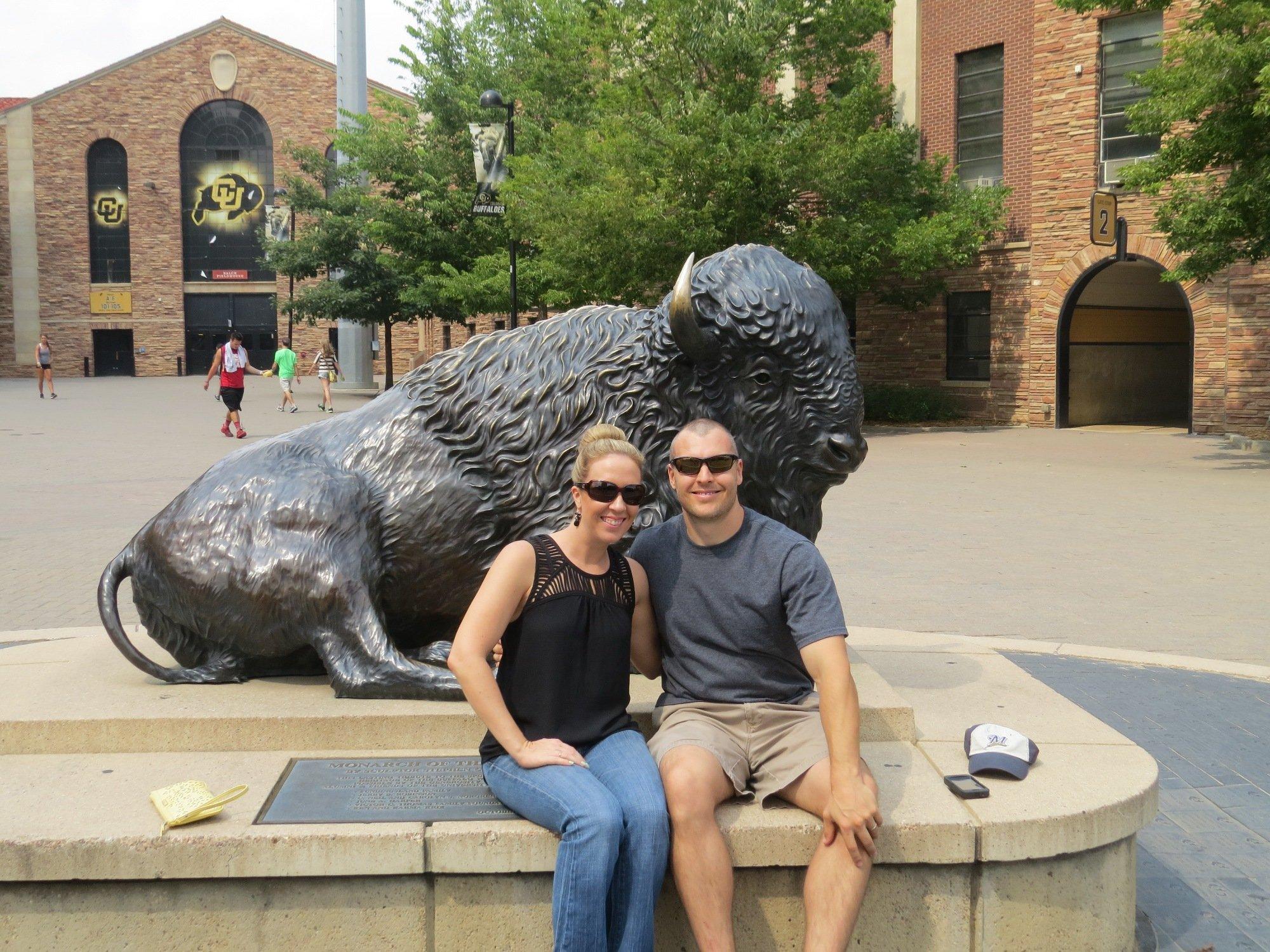 Chadd and Kristi with CU Buffalo