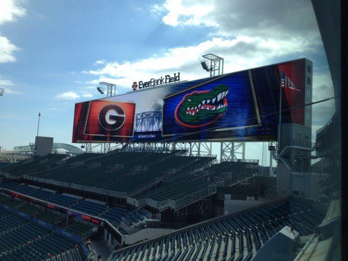 Florida vs. Georgia football game at Everbank Field in Jacksonville.