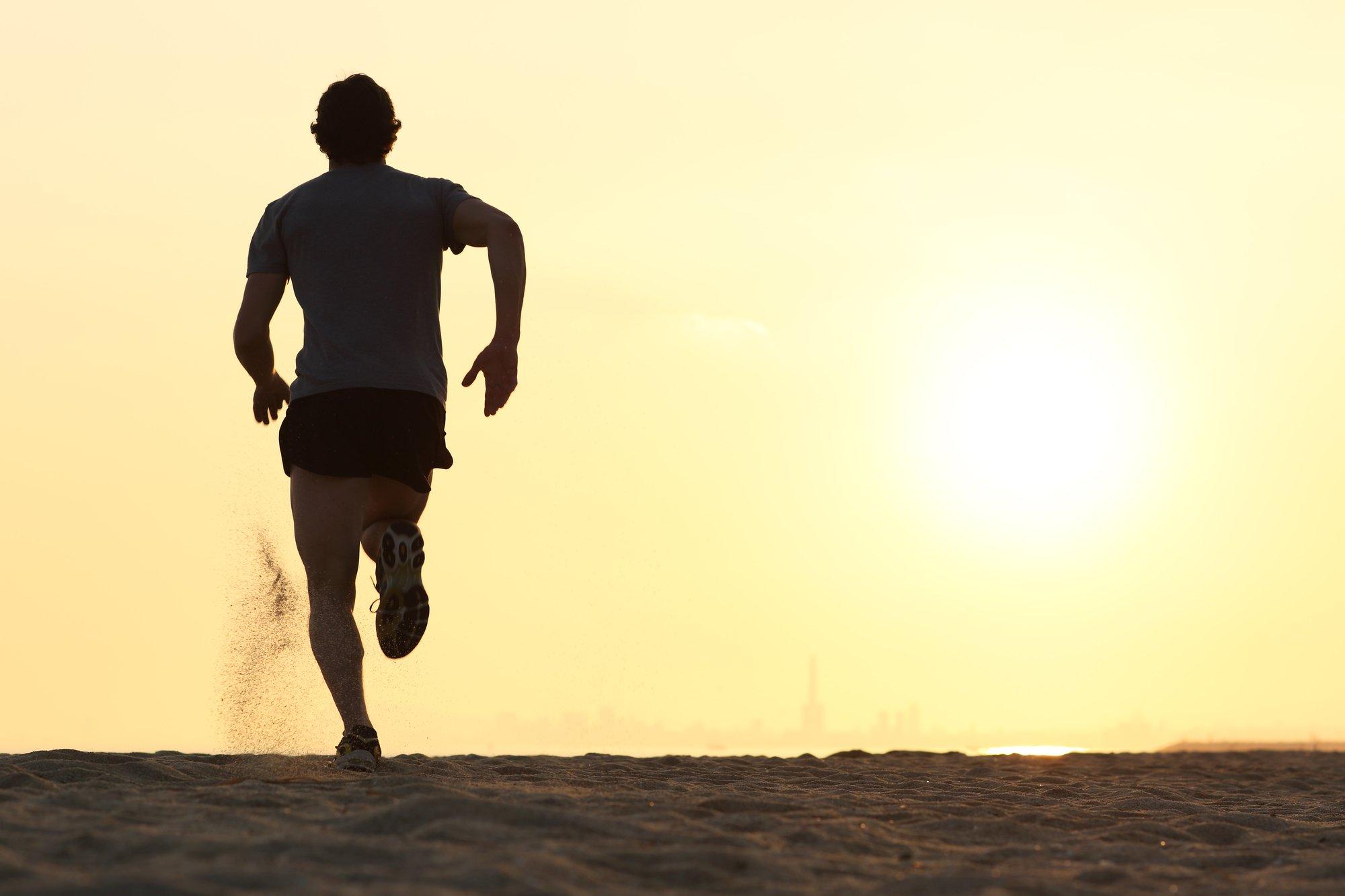 beach workout, beach running