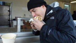 Pork sandwich at Edinburgh Farmer's Market.