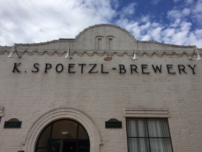 The exterior of the K Spoetzl Brewery in Shiner, TX