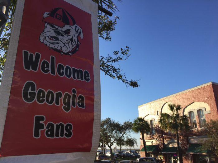 Amelia Island welcomes Georgia fans for the Georgia-Florida game.