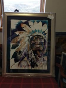 """Bradley Chance Hays' """"A Leader"""" purchased from Vail Fine Art Uncrated."""