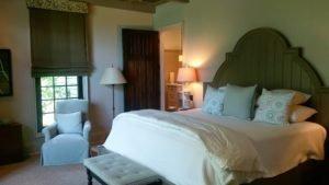 Master bedroom in Watson cottage.