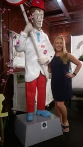 Kristi with Pete of Sweet Pete's.