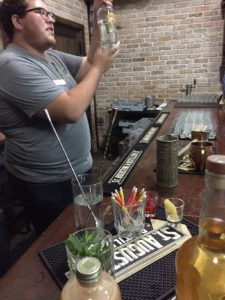 Cocktail tasting on the distillery tour at St. Augustine Distillery.