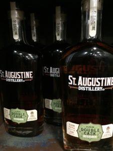 Bottles of St. Augustine Distillery Double Cask Bourbon.