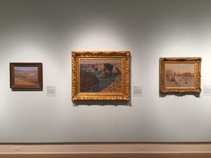 Left to right, Renoir - the showstopper - Monet and Pissarro at the Cornell Fine Arts Museum.