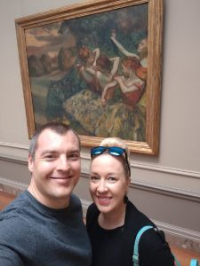 In front of Degas at the National Gallery of Art.