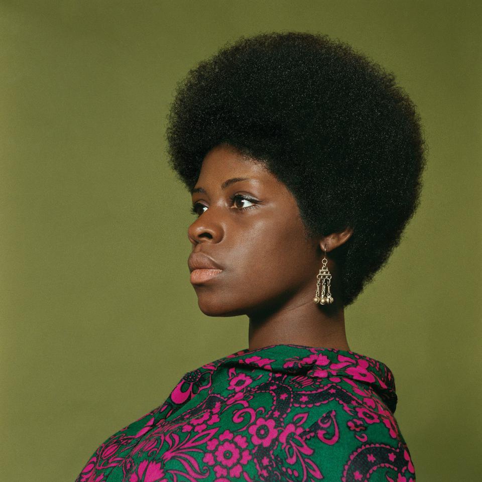 "Kwame Brathwaite, ""Sikolo Brathwaite,"" African Jazz-Art Society & Studios (AJASS), Harlem, ca. 1968; from Kwame Brathwaite:Black Is Beautiful (Aperture, 2019) . © KWAME BRATHWAITE. COURTESY THE ARTIST AND PHILIP MARTIN GALLERY, LOS ANGELES."