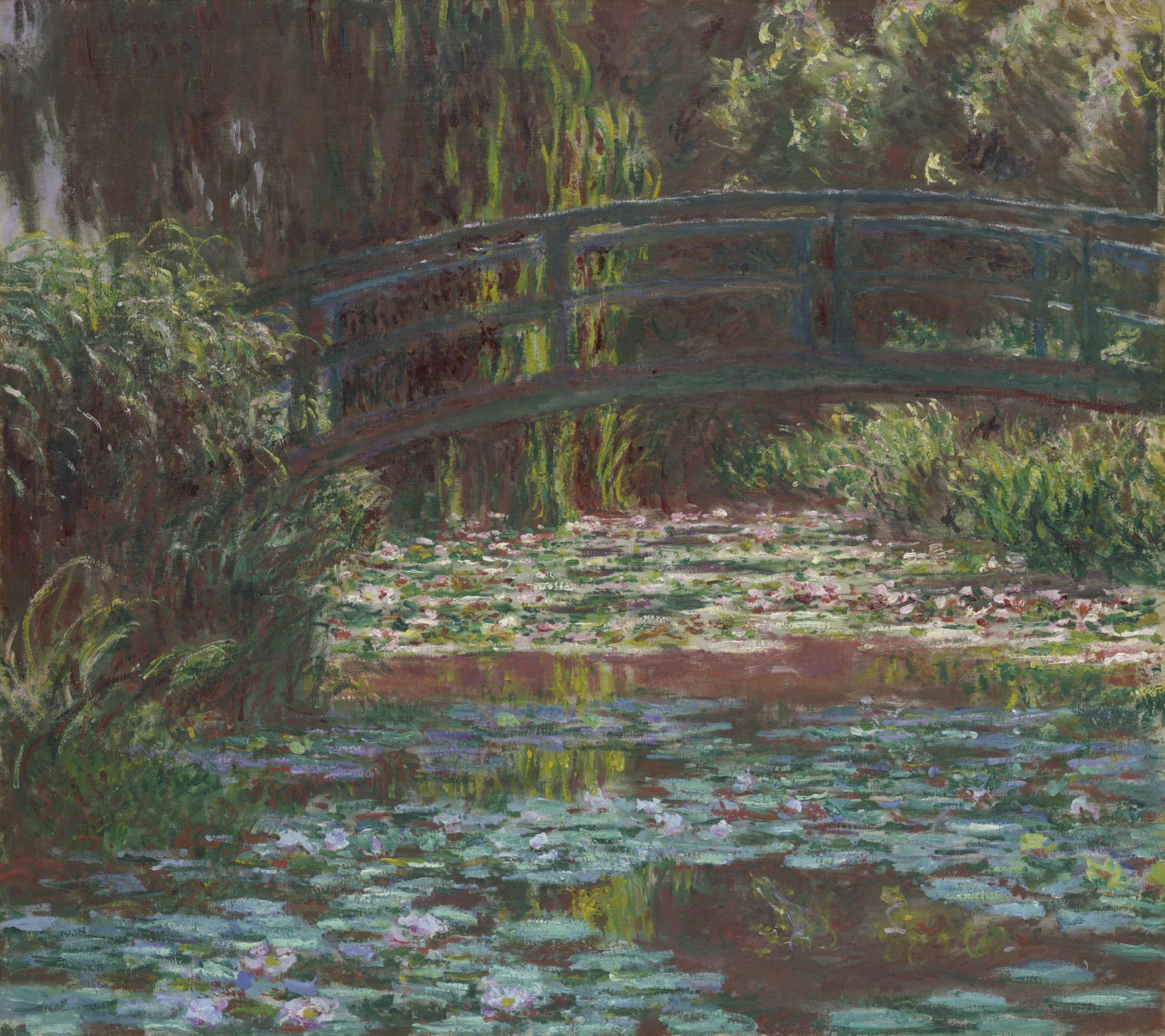 Claude Monet. Water Lily Pond, 1900. The Art Institute of Chicago, Mr. and Mrs. Lewis Larned Coburn Memorial Collection, 1933.441.