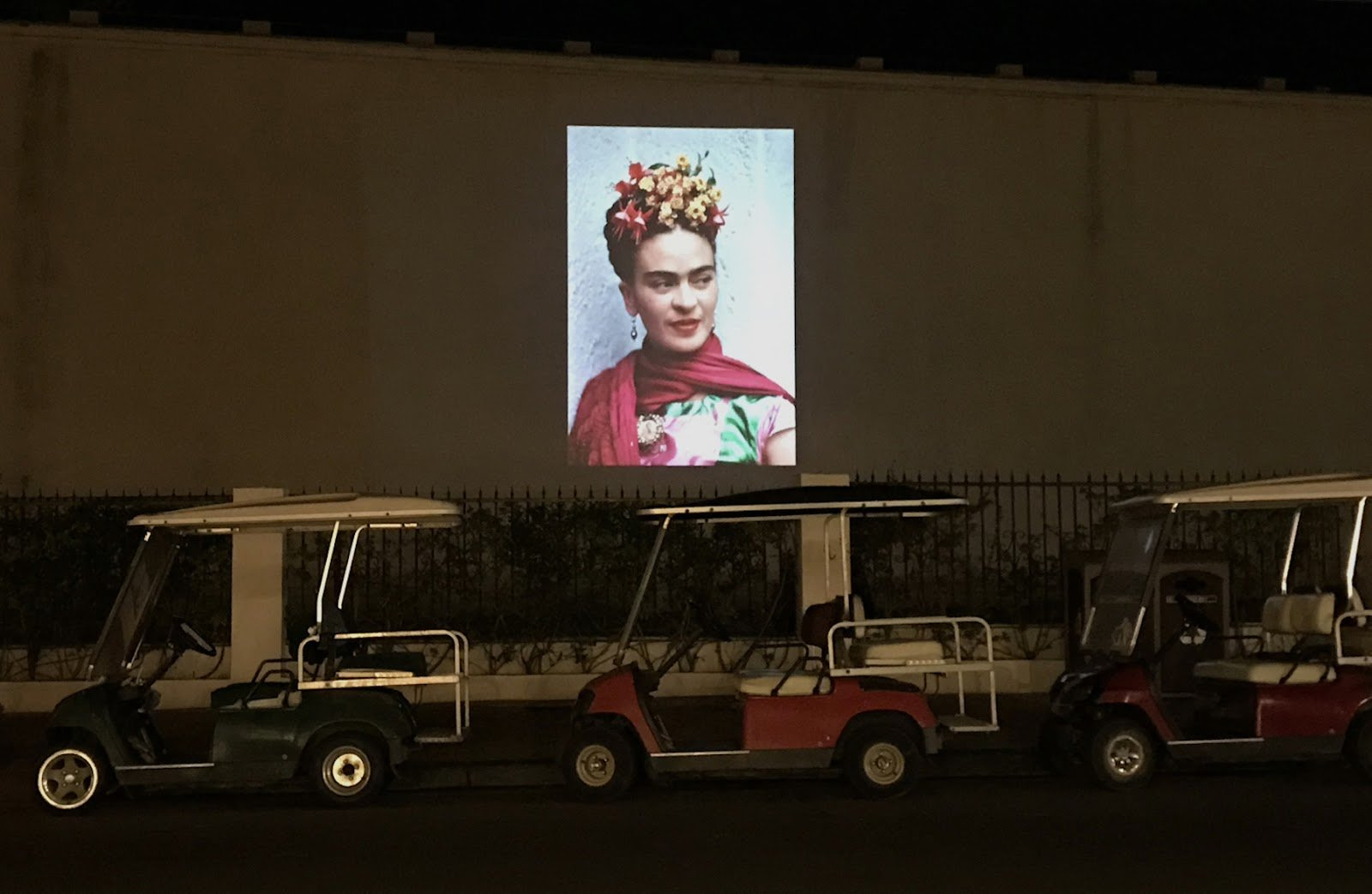 Frida Kahlo projection. Photo courtesy of Catalina Island Museum.