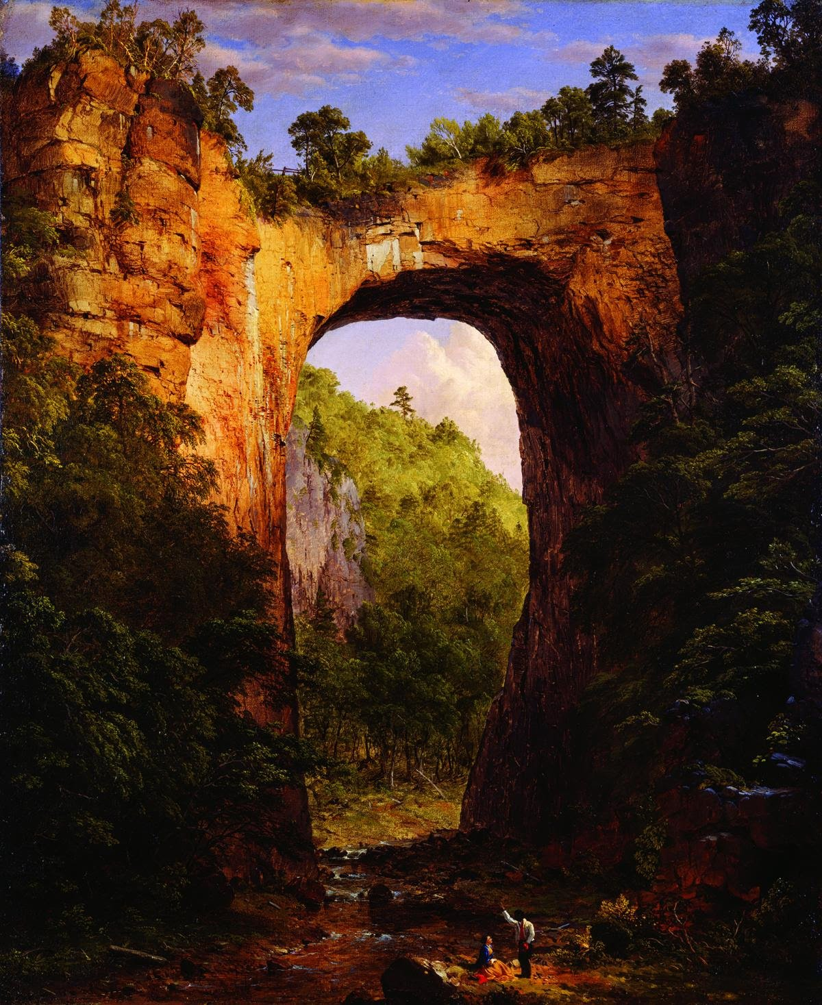 Frederic Edwin Church, The Natural Bridge, Virginia, 1852, oil on canvas, The Fralin Museum of Art at the University of Virginia, Gift of Thomas Fortune Ryan.