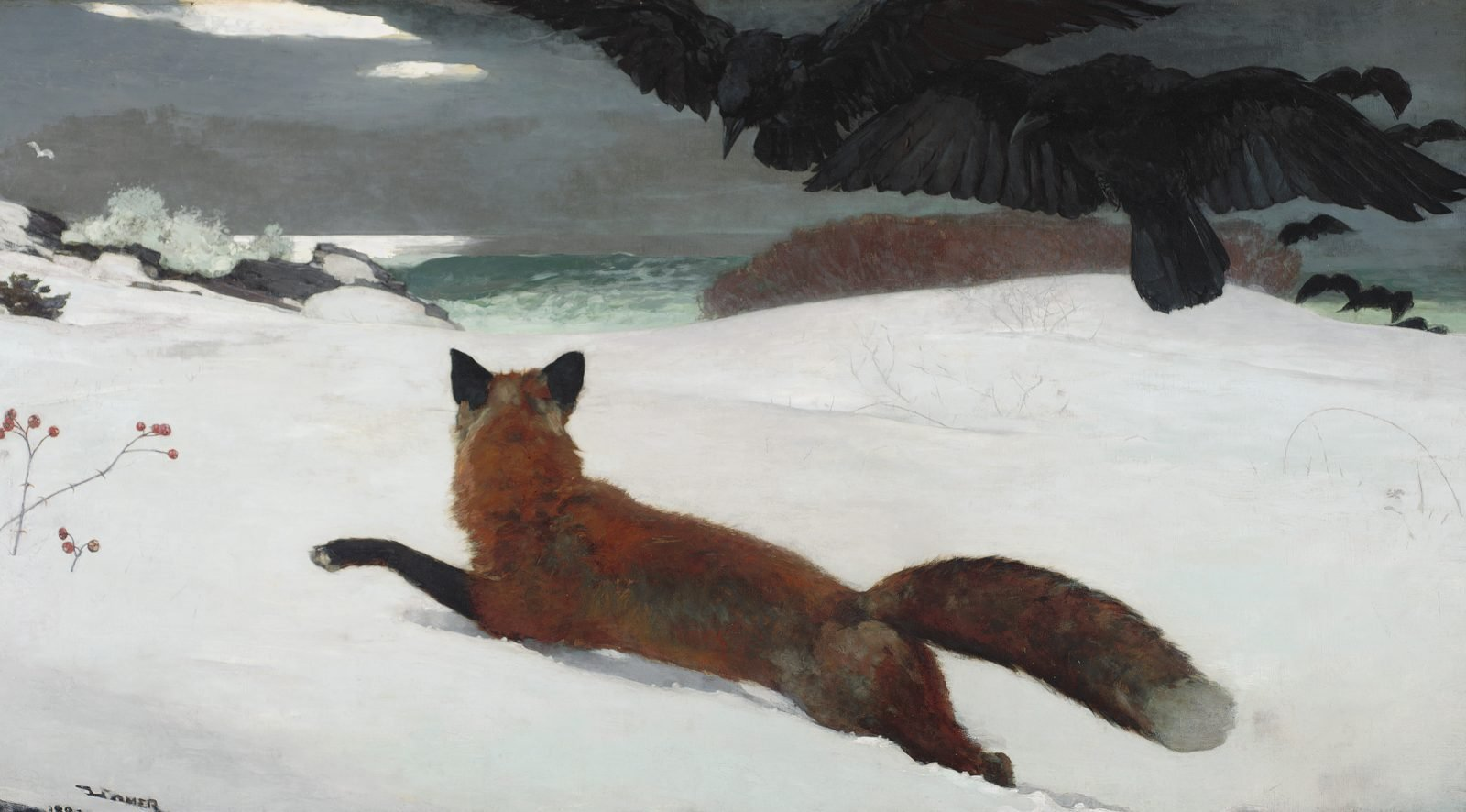 Winslow Homer (1836–1910), Fox Hunt, 1893, oil on canvas, Courtesy of the Pennsylvania Academy of the Fine Arts, Philadelphia. Joseph E. Temple Fund, 1894.4