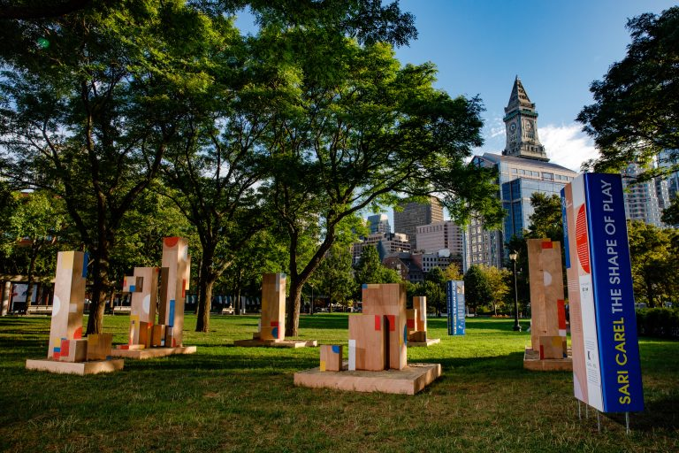 The Shape of Play, a new public art installation by artist Sari Carel, commissioned by the Jewish Arts Collaborative (JArts) and curated and produced by Now + There.