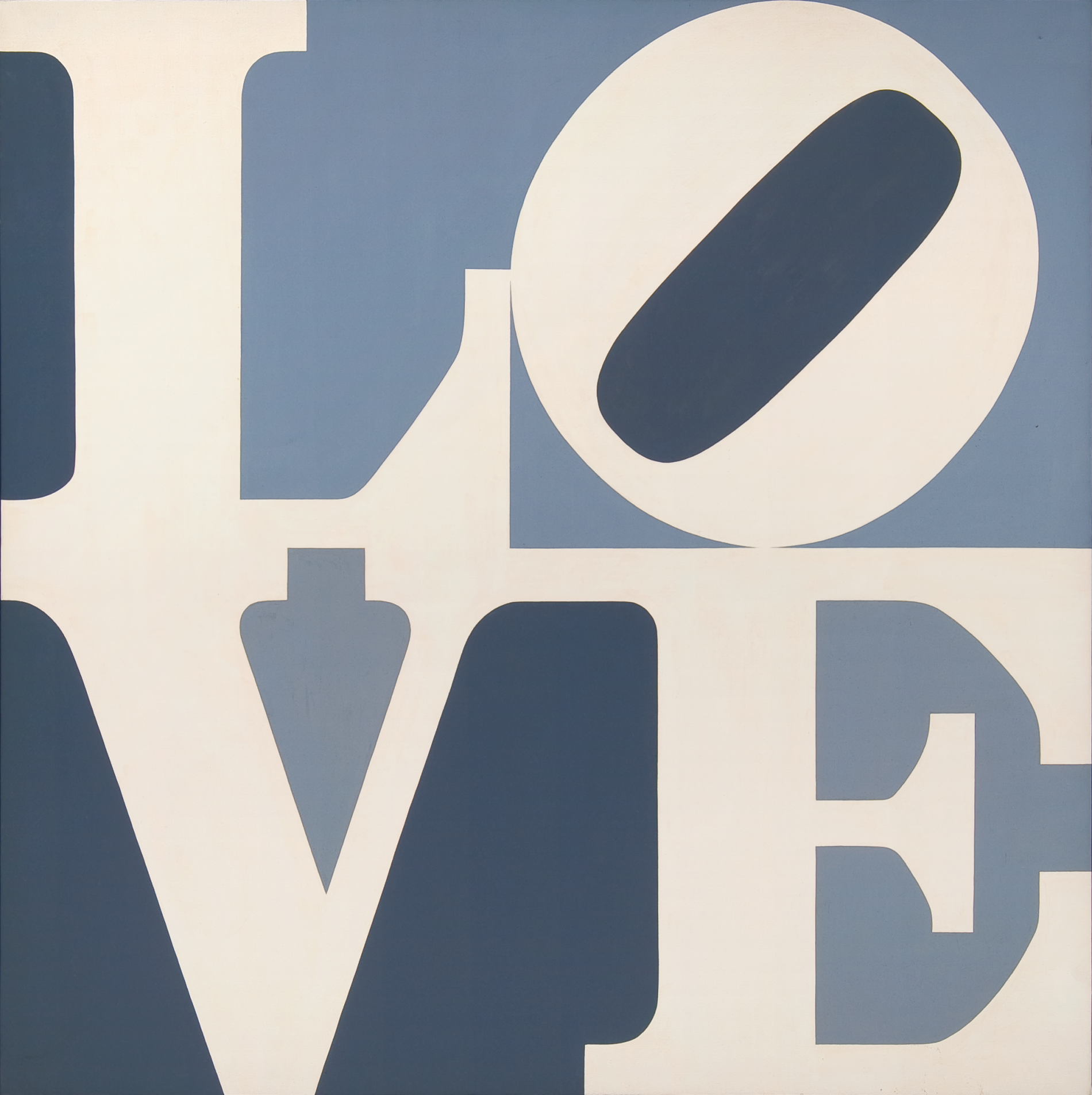 Robert Indiana, LOVE , 1967. Oil on canvas. Collection of The Tobin Theatre Arts Fund. © Morgan Art Foundation/ Artists Rights Society (ARS), New York.