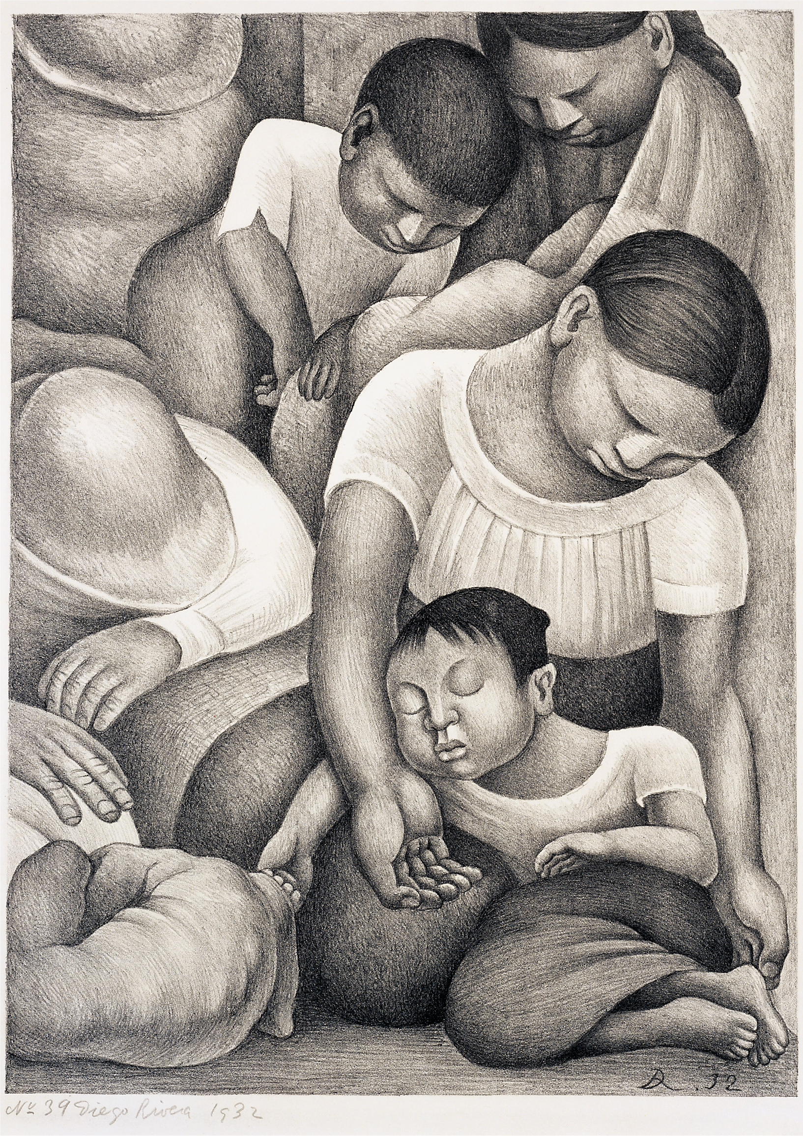 Diego Rivera Mexican, 1886 - 1957 Sleep 1932 Lithograph Museum purchase with funds from the Cullen Foundation, the Friends of the McNay, Charles Butt, Margaret Pace Willson, and Jane and Arthur Stieren 2000.61
