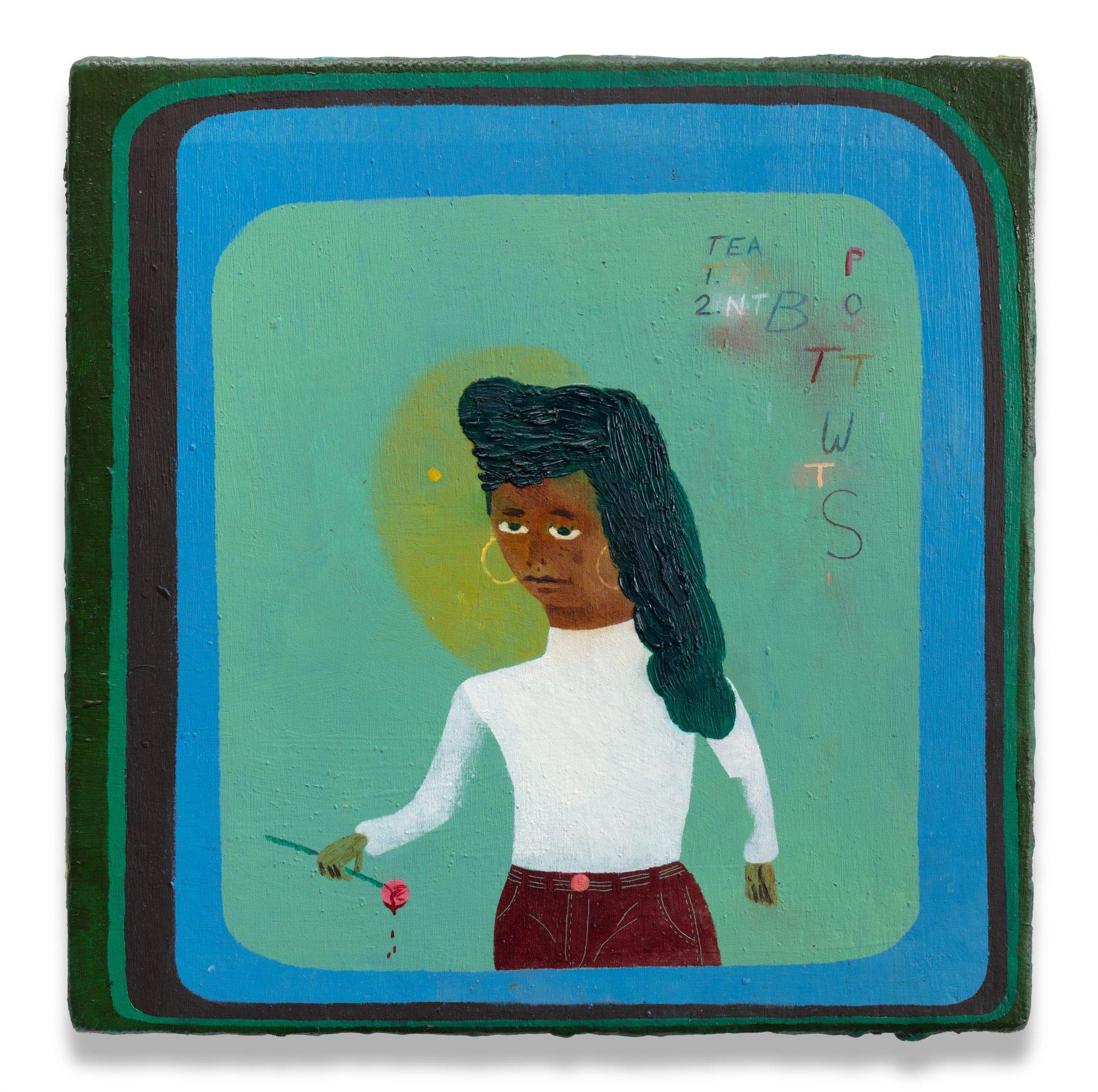 "Kenny Rivero, ""I Still Hoop,"" 2020. Courtesy of Charles Moffett and the artist."