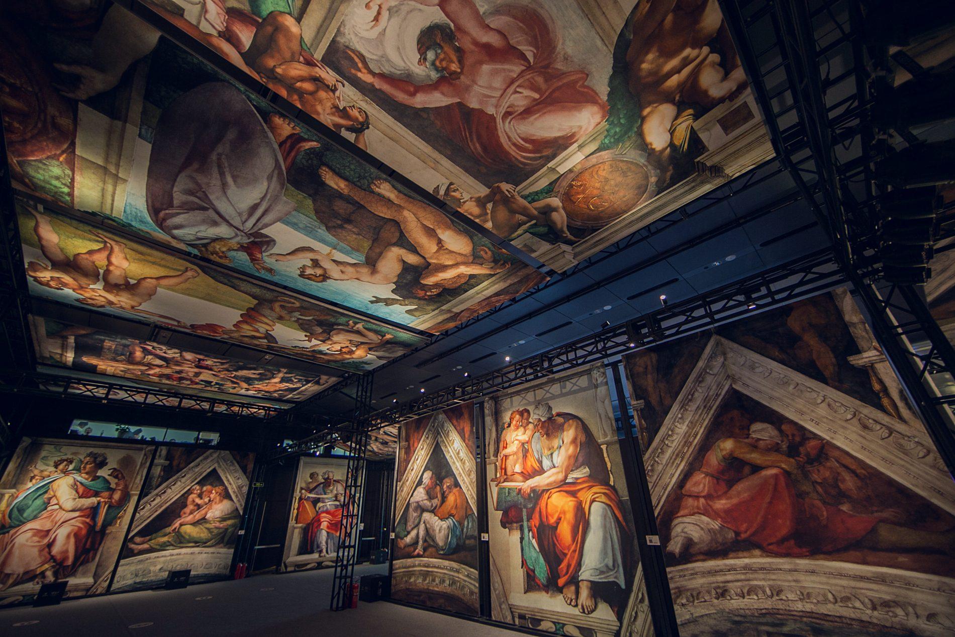 'Michelangelo's Sistine Chapel: The Exhibition' installation view.