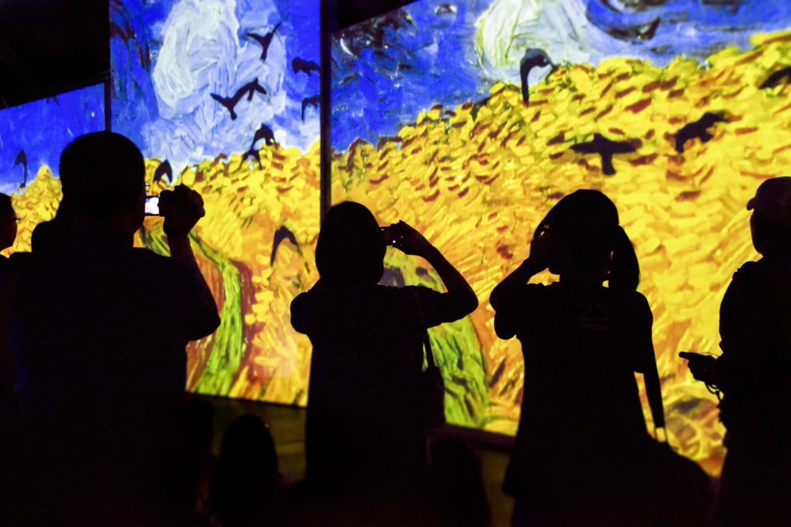 Dali Museum Van Gogh Alive installation rendering Copyright: © 2020 Grande Experiences