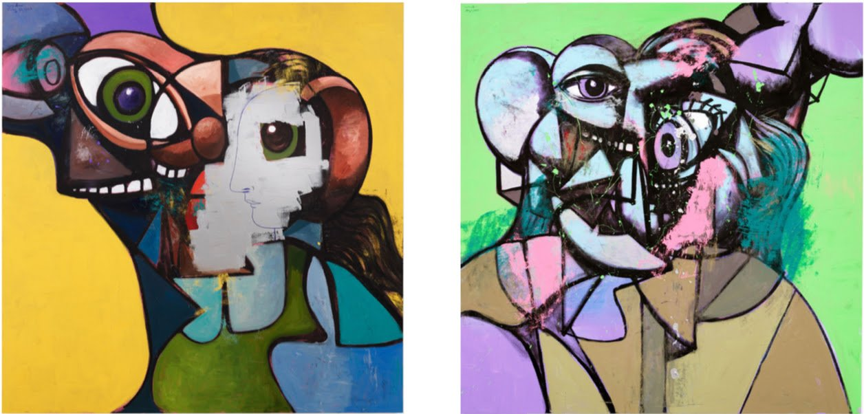 (C) George Condo, courtesy of the artist and Hauser & Wirth, photos by Thomas Barratt.