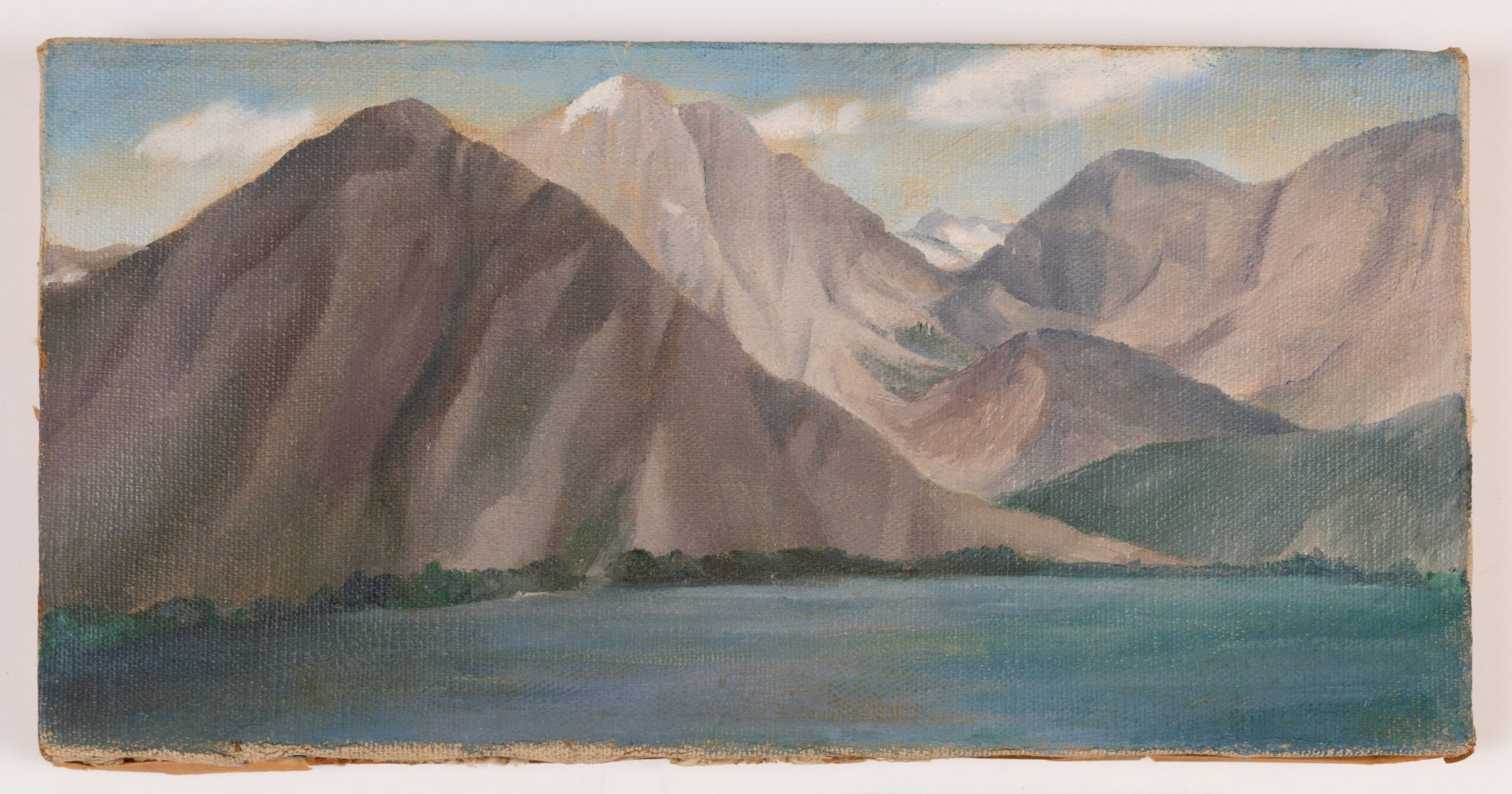 Ida Ten Eyck O'Keeffe (American, 1889-1961), Western Landscape, ca. 1935. Oil on canvas, 6 x 12 in. Carolyn T. Anderson Endowment Fund, Eugenie Mayer Bolz Endowment Fund, Chazen Museum of Art General Endowment Fund and D. Frederick Baker Fund purchase.