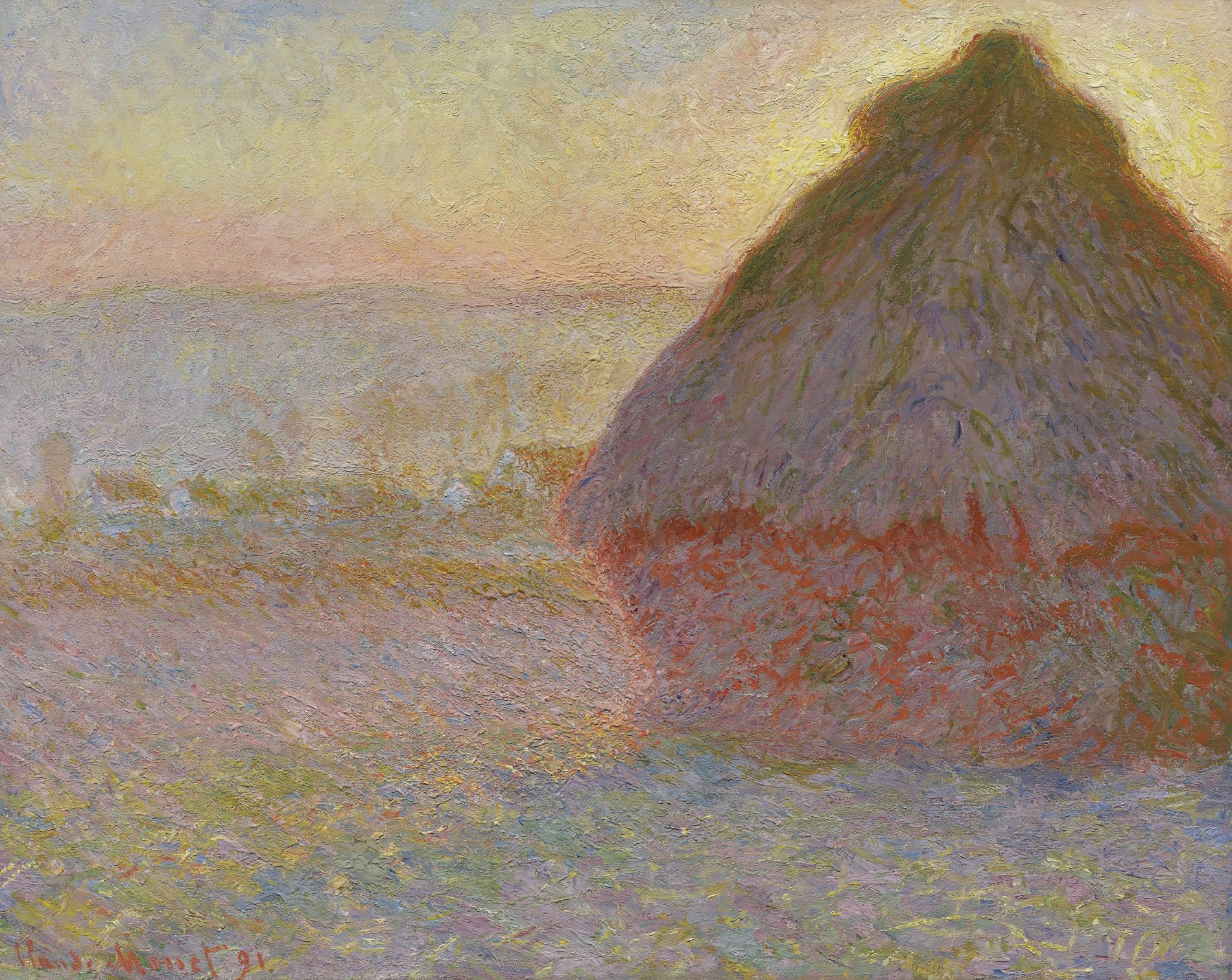 Grainstack (Sunset) Claude Monet (French, 1840–1926) 1891 Oil on canvas * Juliana Cheney Edwards Collection * Photograph © Museum of Fine Arts, Boston.