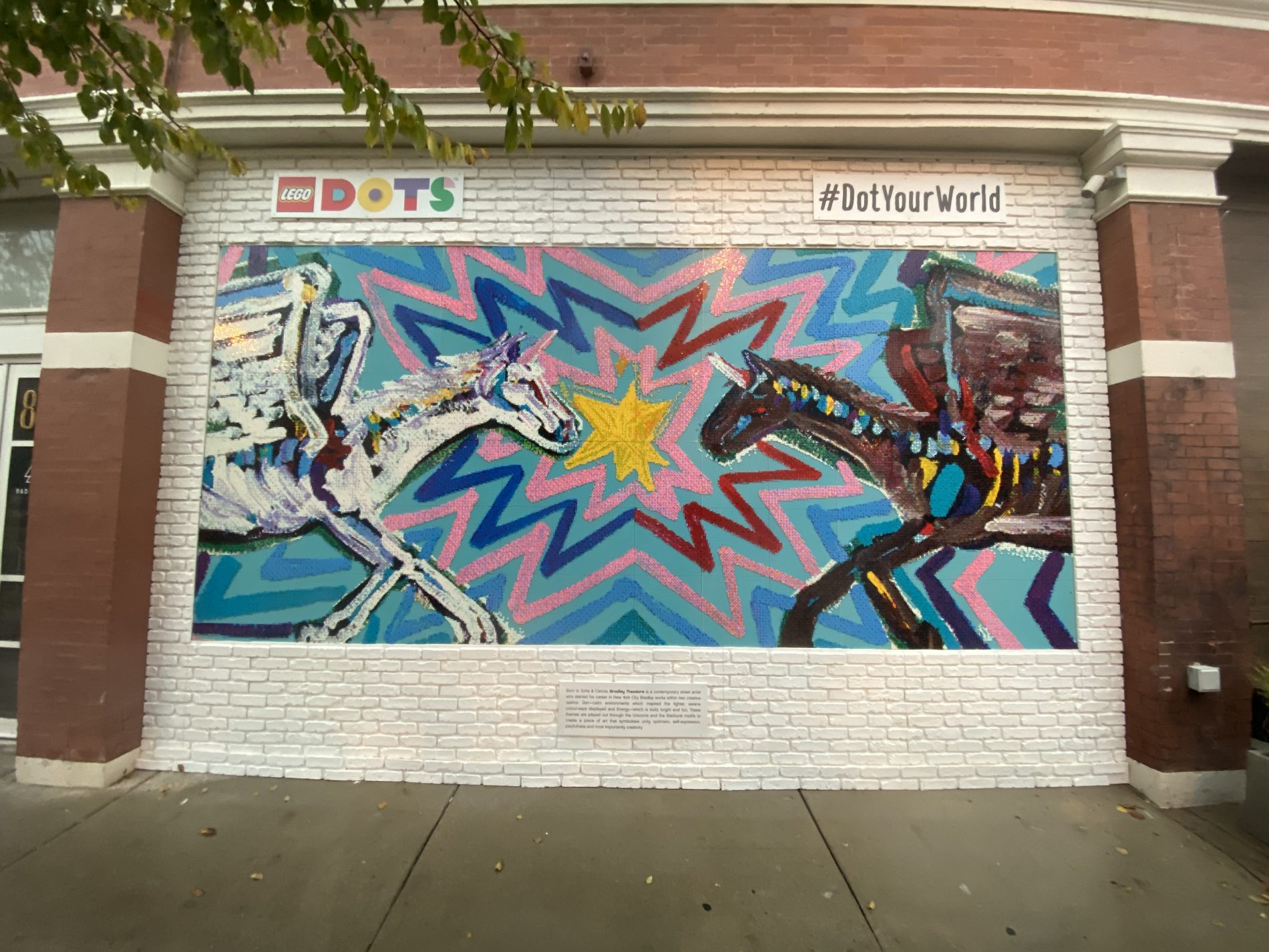 Bradley Theodore for The LEGO Group Fulton Market mural.