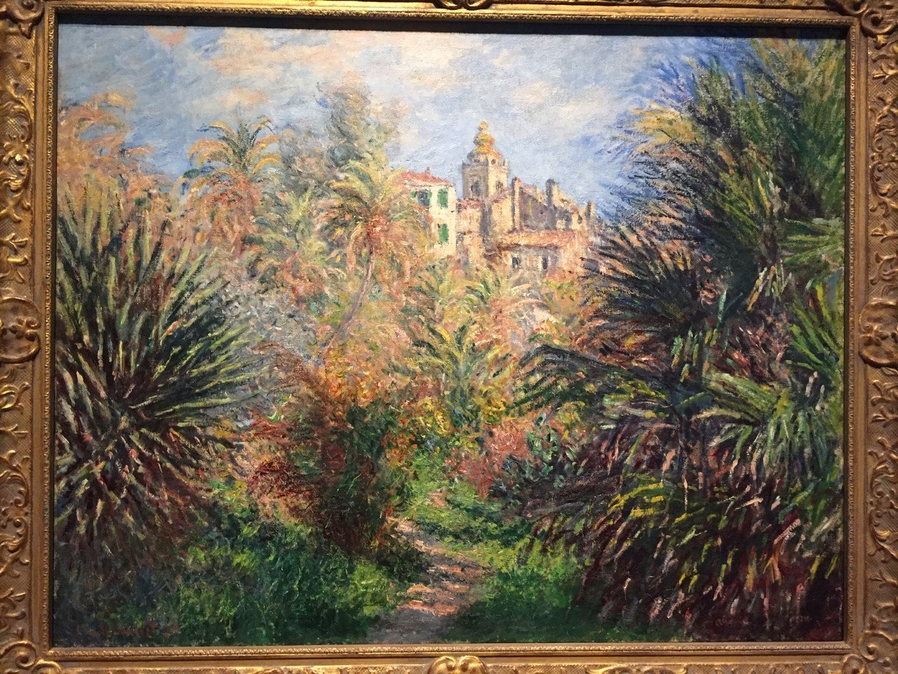 Claude Monet's 'Gardens of the Villa Moreno, Bordighera,' at the Norton Museum of Art in West Palm Beach, FL.