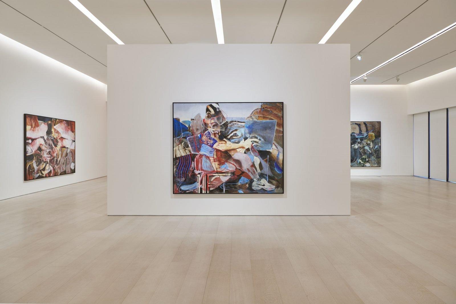 Installation view, Adrian Ghenie: The Hooligans, Pace Gallery, 540 West 25th Street, New York, November 20, 2020 – January 16, 2021 © Adrian Ghenie, courtesy Pace Gallery.