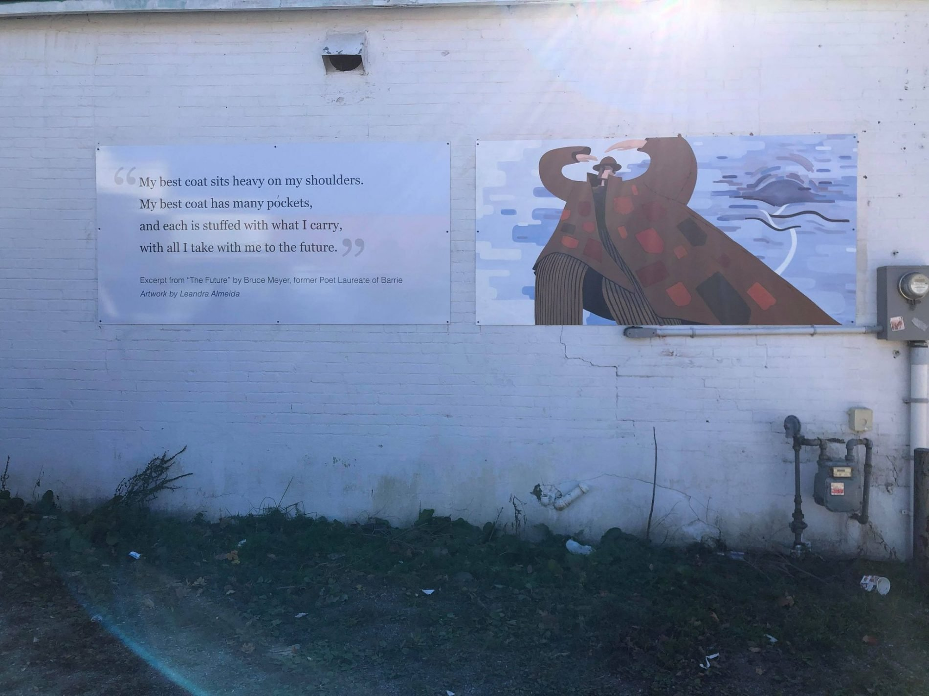 """""""The Future"""" mural in downtown Barrie, Ontario."""