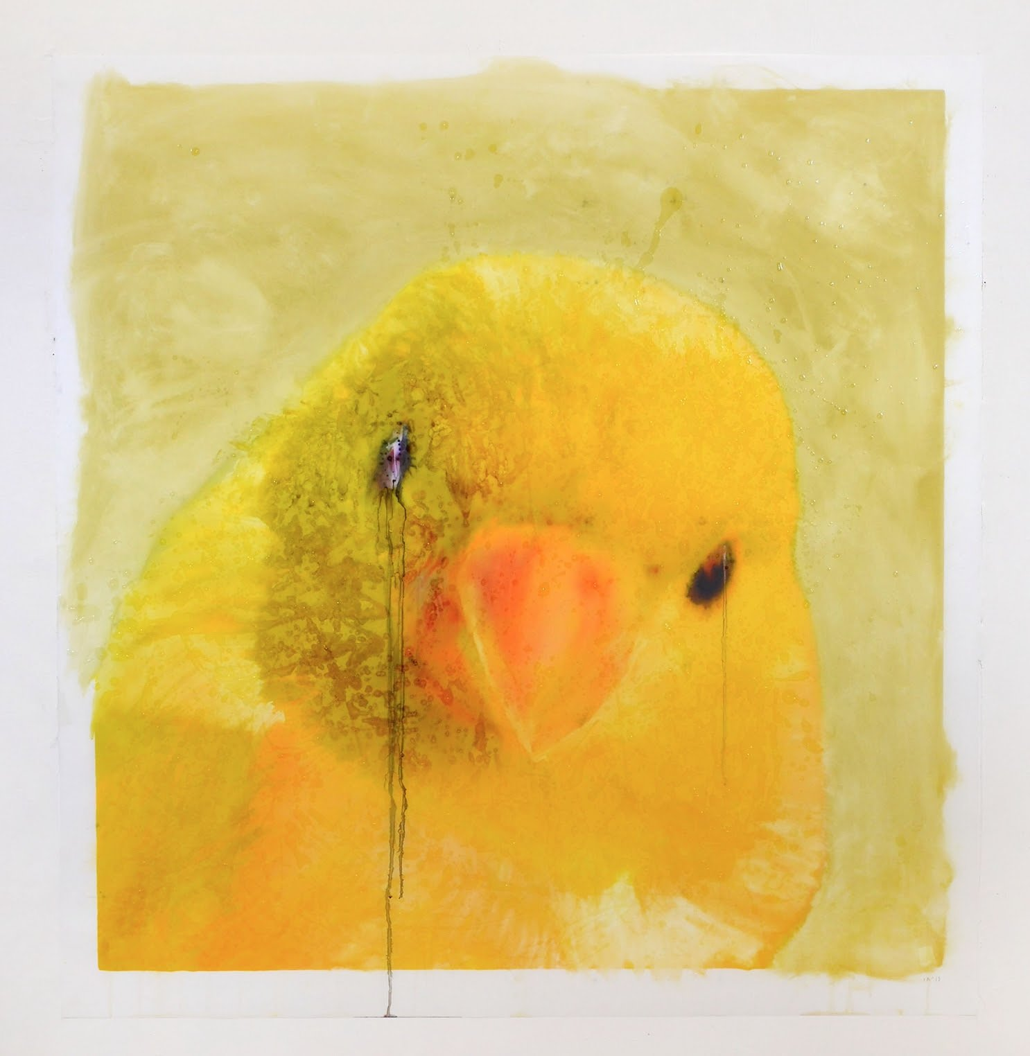 Ida Applebroog, 'Portraits (Canary),' 2019. Ultrachrome ink and gel on mylar. 127 x 121.9 cm / 50 x 48 in. © Ida Applebroog. Courtesy Hauser & Wirth Photo: Emily Poole.