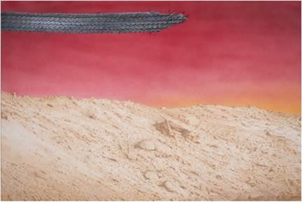 ED RUSCHA, 'Hardscrabble,' 2020. Acrylic on canvas 32 x 48 in 81.3 x 121.9 cm.