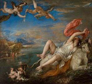Titian (Italian, 1488-1576), Rape of Europa, 1562. Isabella Stewart Gardner Museum, Boston