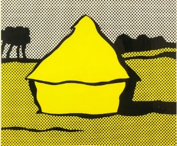 Roy Lichtenstein, Haystack (yellow) 1969. Screen print on Fabiano wove, 14 3/8 x 17 ¼ in, Private Collection, New York.