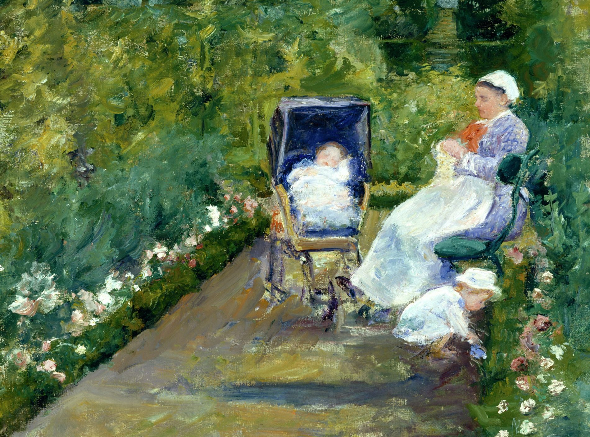 Mary Cassatt, Children in a Garden (The Nurse), 1878. The Museum of Fine Arts, Houston, Gift of Mr. and Mrs. Meredith J. Long, 2001.471.