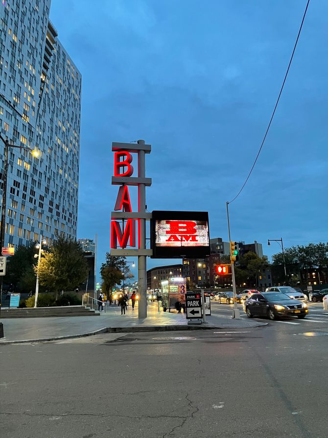BAM Sign at Lafayette and Flatbush Ave.
