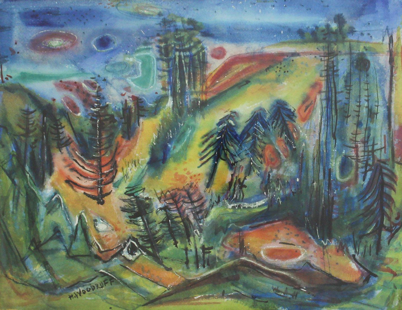 Hale Woodruff, 'Mississippi Landscape.'