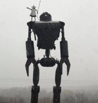 Bill Secunda's 'hill guardian' of Marquette Mountain.
