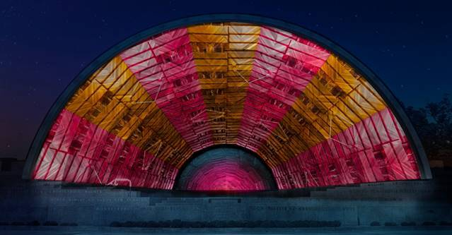 "Rendering of ""Breaking Through the Silence"" at Hatch Band Shell in Boston."