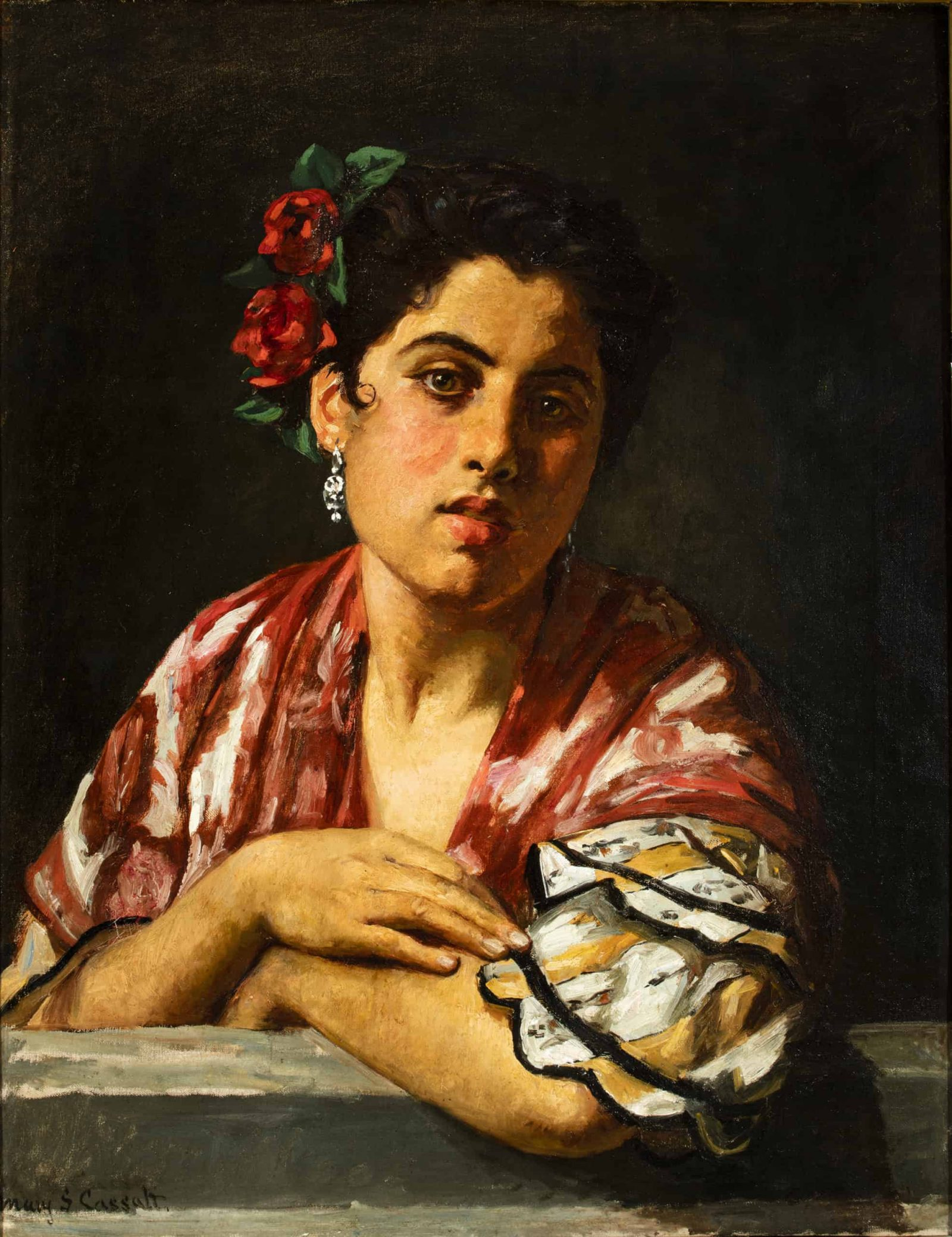 Mary Cassatt (American, 1844-1926), Spanish Girl Leaning on a Window Sill, ca. 1872. Oil on canvas. Manuel Piñanes García-Olías, Madrid.