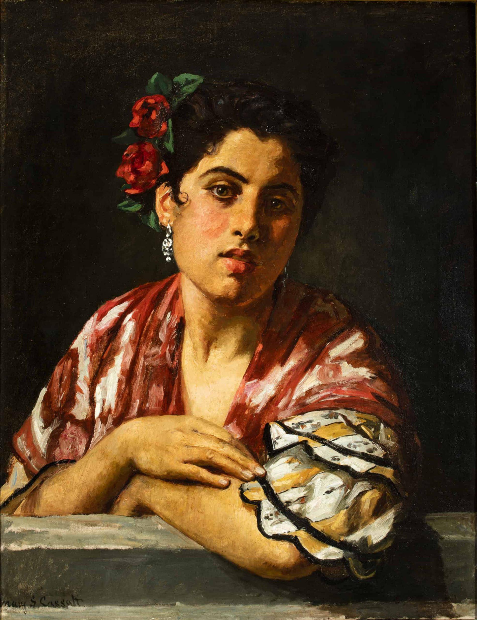 Mary Cassatt (American, 1844-1926), Spanish Girl Leaning on a Window Sill, ca. 1872. Oil on canvas. Manuel Piñanes García-Olías, Madrid.