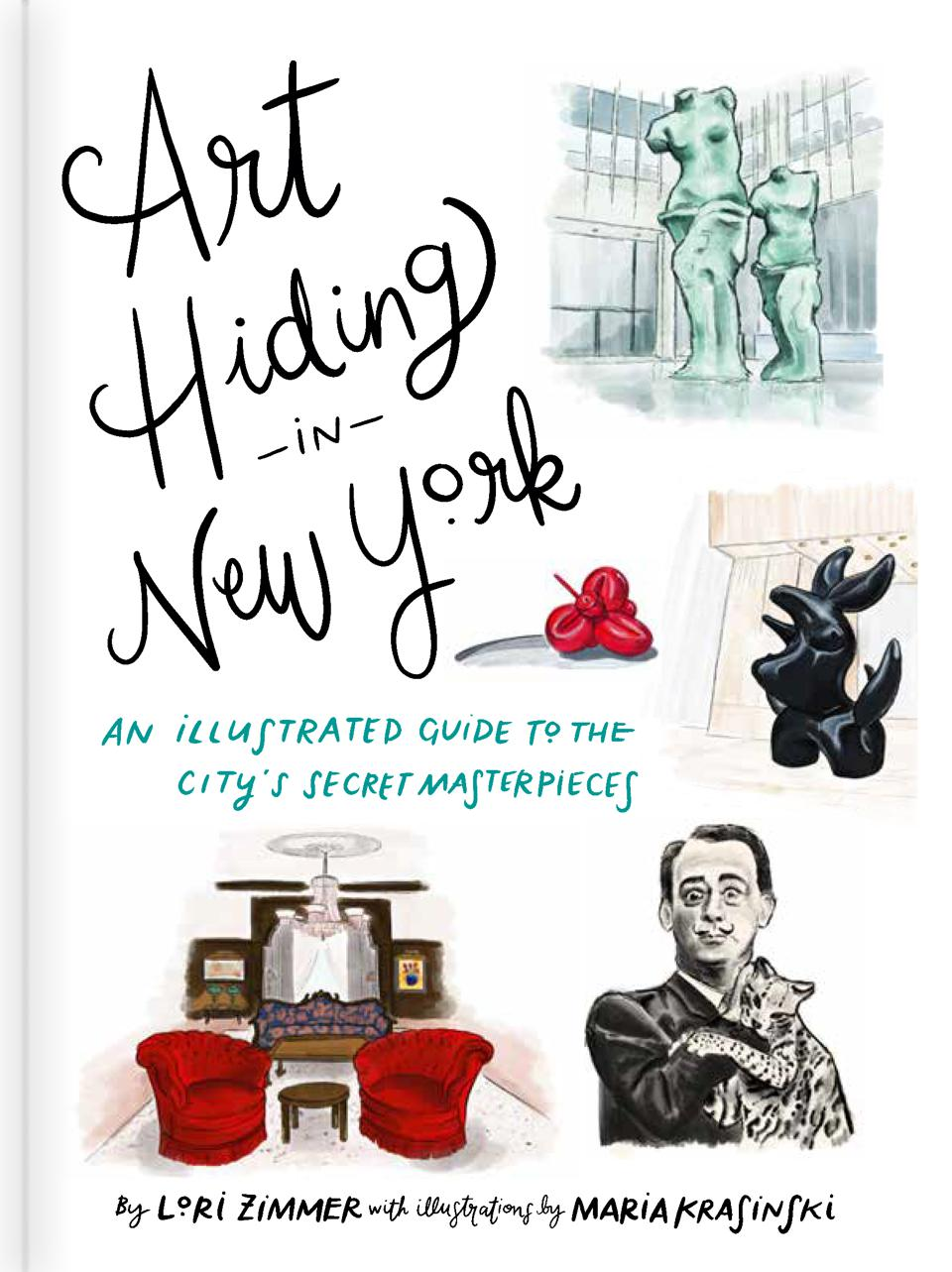 Lori Zimmer Art hiding in New York, New York public art book cover.