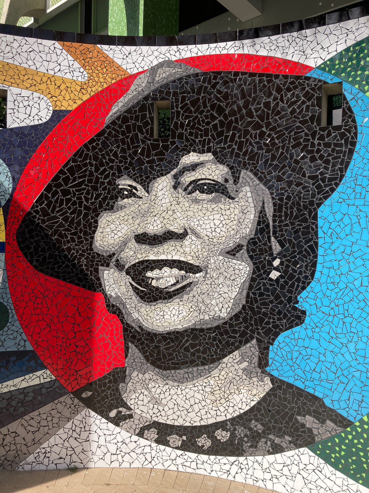 Nora Neale Hurston mural at the Jessie duPont Ball Center in Jacksonville, Florida.
