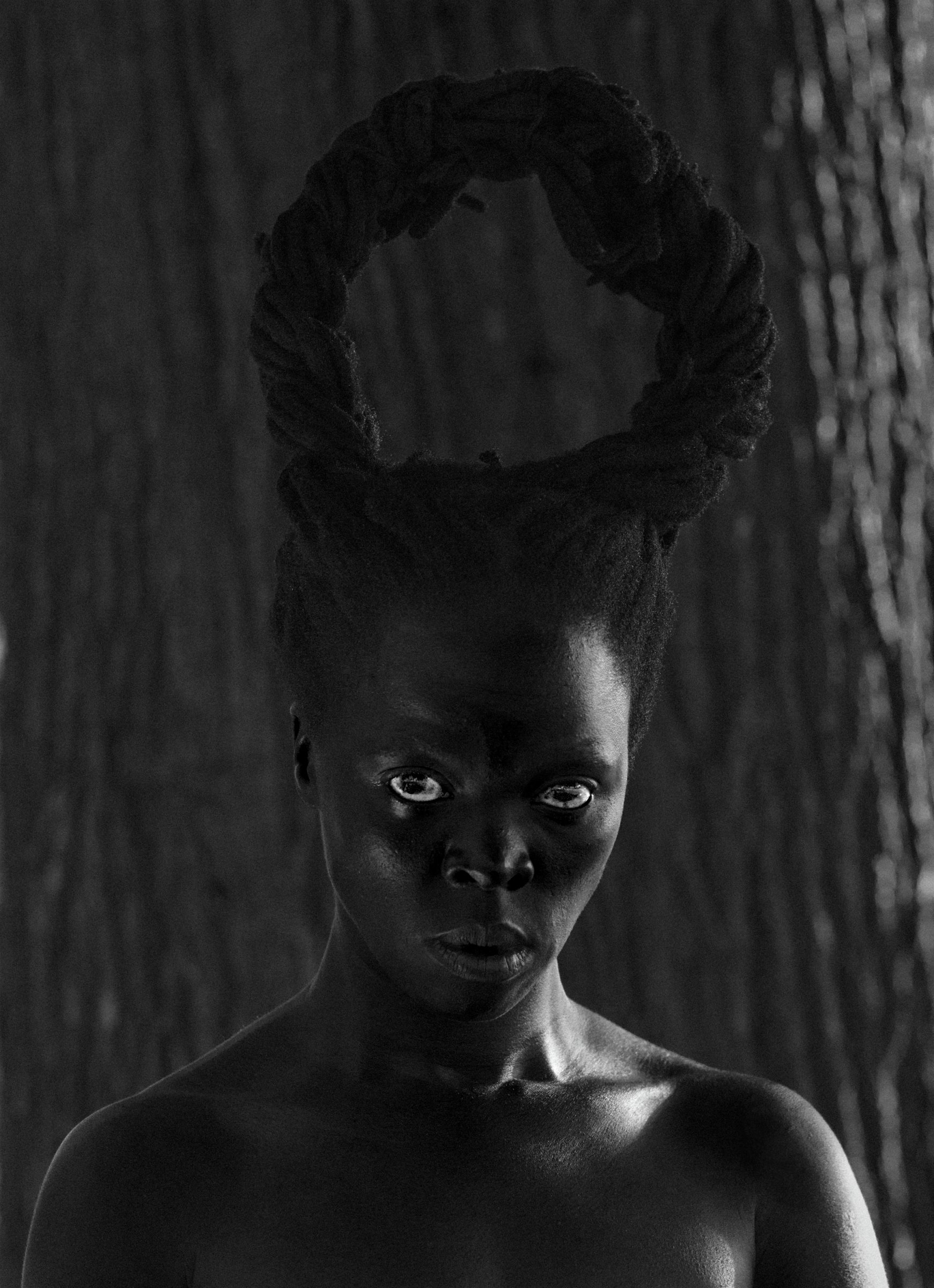 Zanele Muholi (South African, born 1972), Zibuyile I (Syracuse ), 2015, gelatin silver print, 25 5/8 x 17 inches, purchase with funds from the Donald and Marilyn Keough Family and the H. B. and Doris Massey Charitable Trust. 2017.300