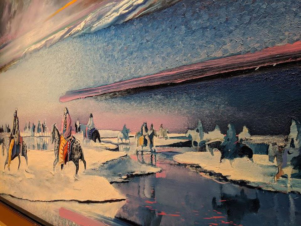 Earl Biss, Magic Thunder in the Northern Sky, detail.