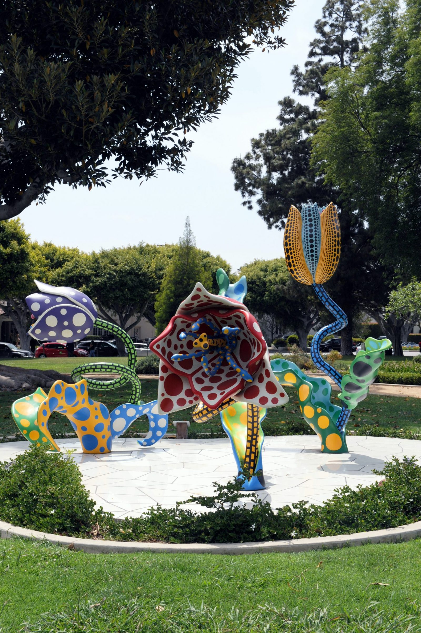 Yayoi Kusama, 'Hymn of Life - Tulips,' (2007). Mixed media; courtesy of the City of Beverly Hills.