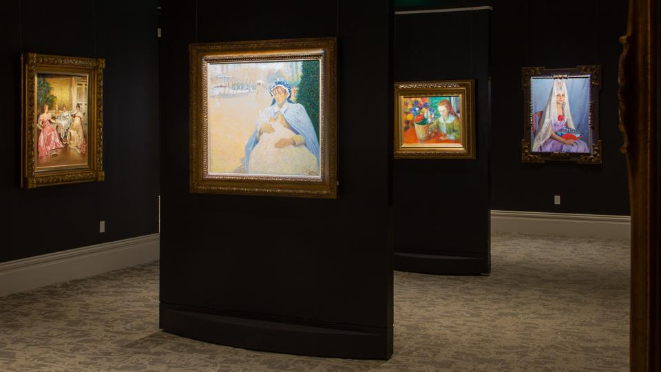 One of many newly renovated galleries at M.S. Rau highlights masterworks from its painting collection. M.S. RAU