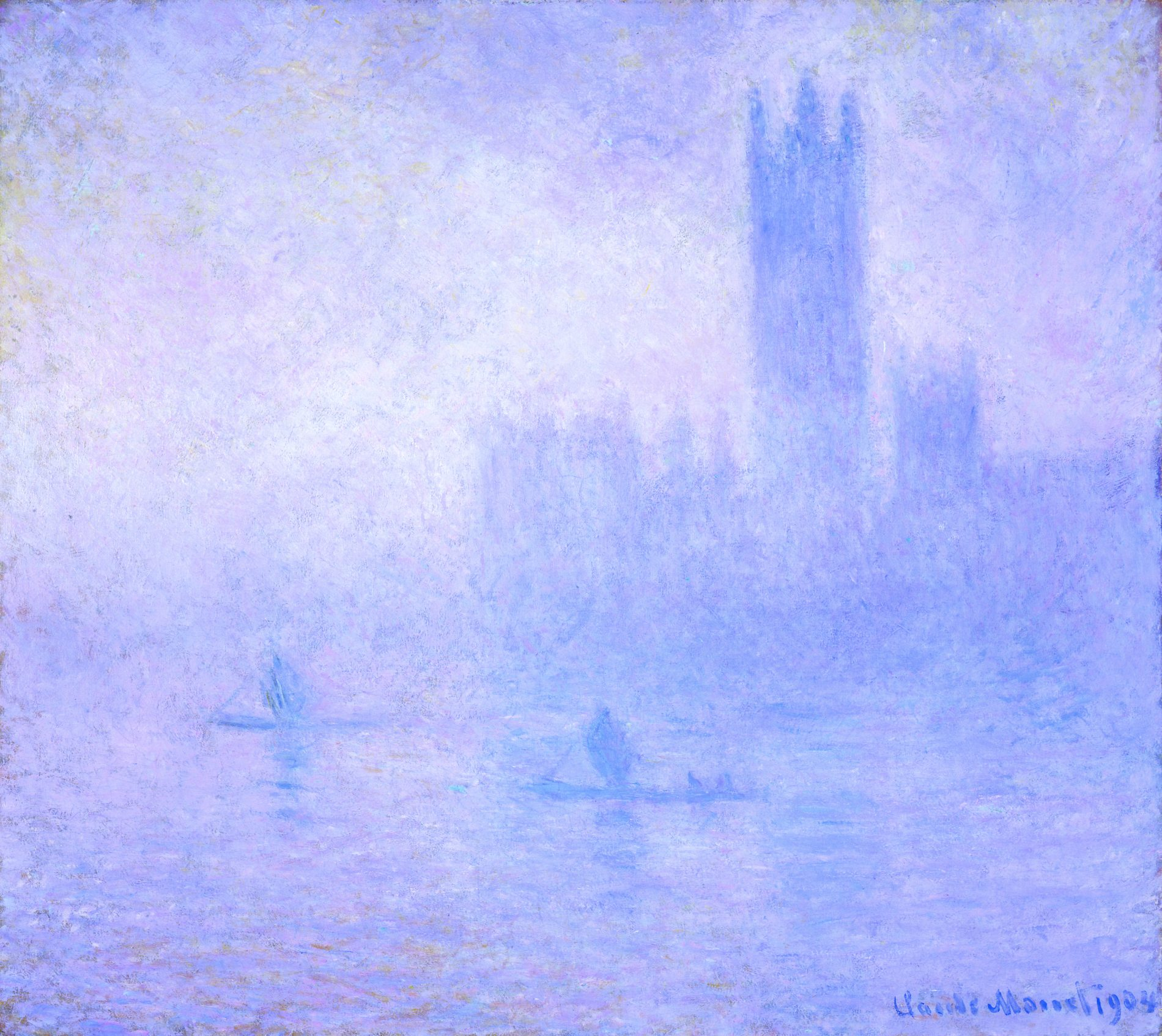Claude Monet, French, 1840–1926, Houses of Parliament: Effect of Fog, London, 1904, Oil on canvas.