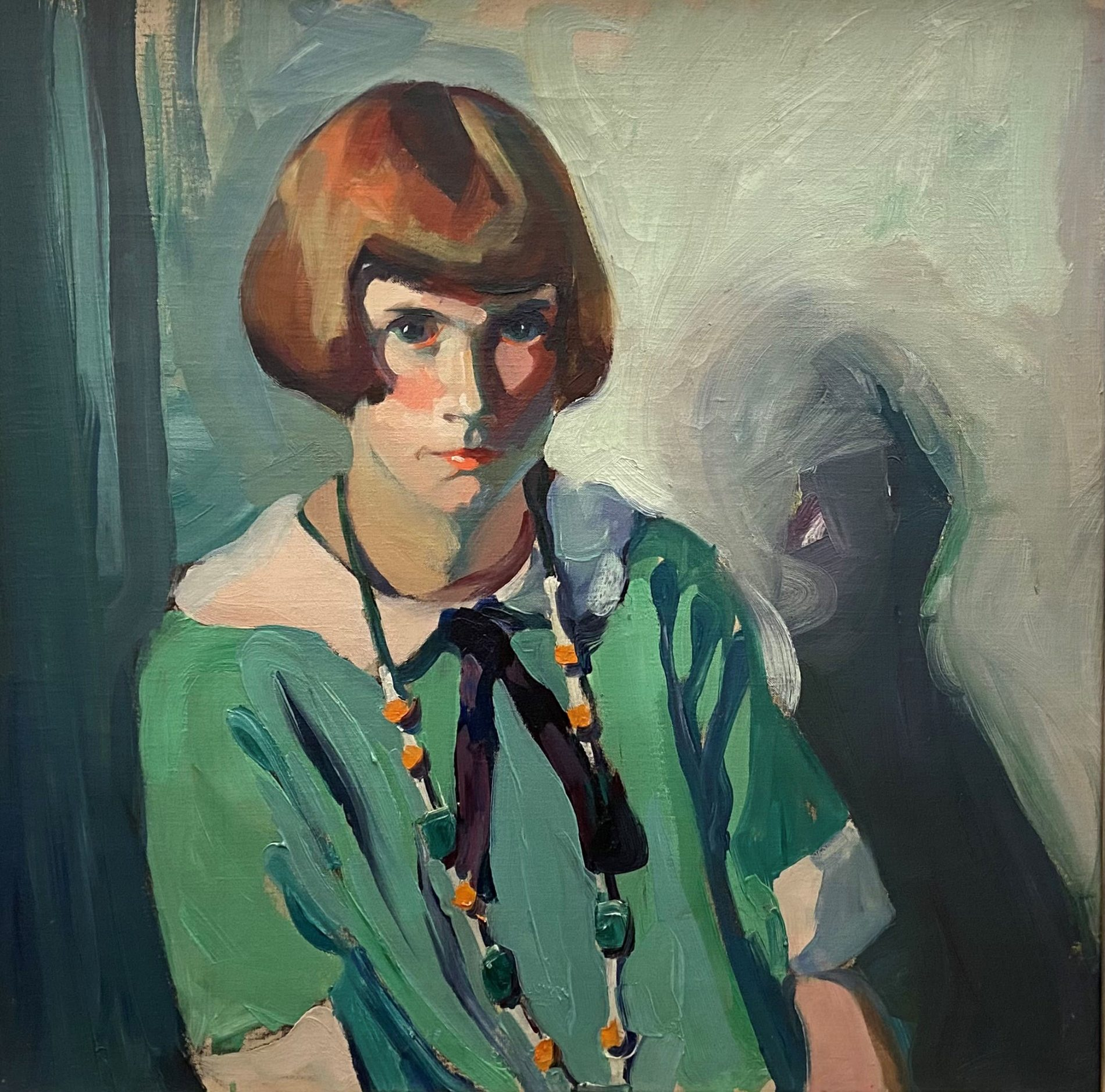 The Green Dress by Jane Peterson (1876-1965)